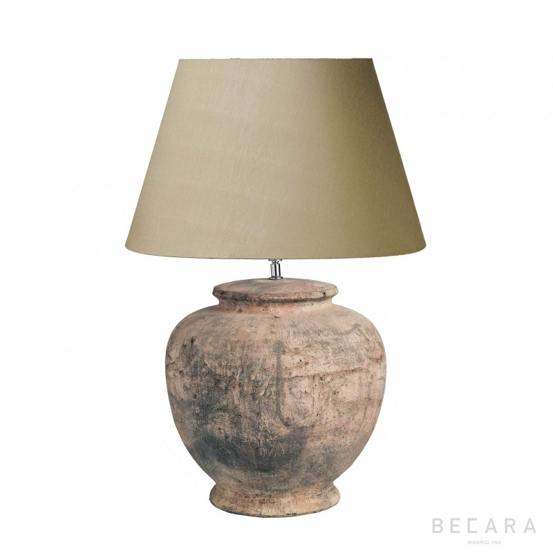 Lámpara de mesa redonda de terracota Ø30cm - BECARA
