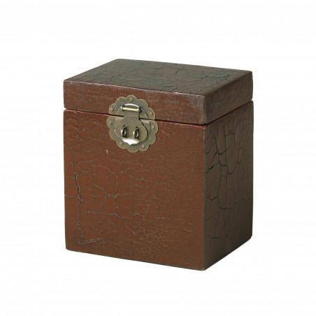 Caja craquele roja