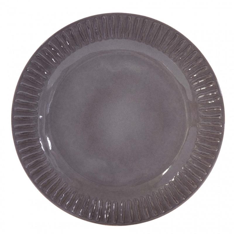 Plato llano Assis gris - BECARA