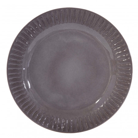 Plato llano Assis gris
