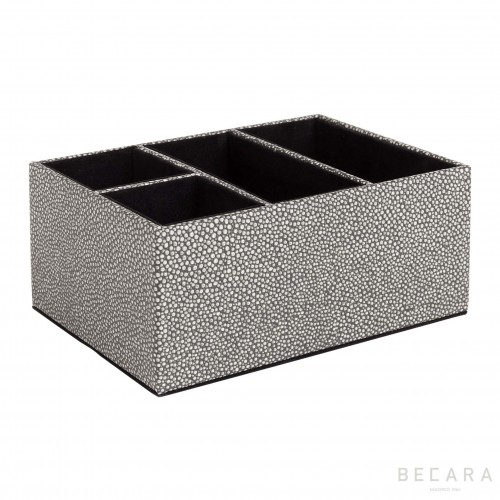 Multi shagreen pencil holder