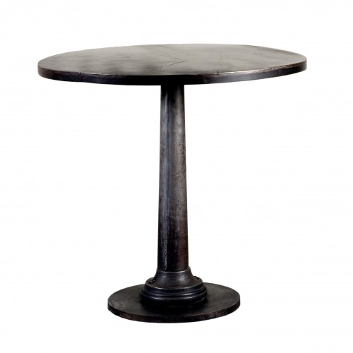 Side table with black tube leg