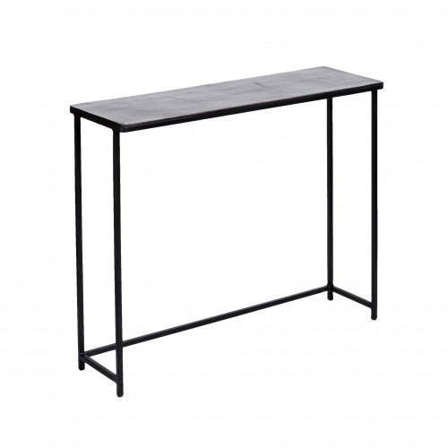 Medium black nickel finish Club console
