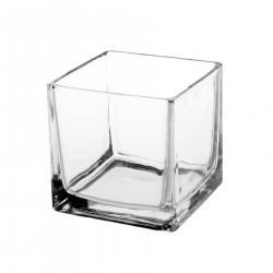 Small glass flowerpot