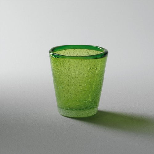 Green glass for small candle