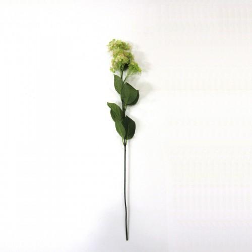 Rama de Hortensia verde y rosa 81cm