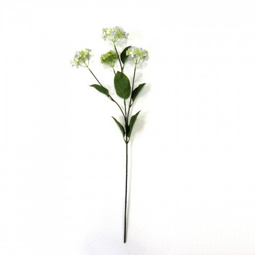 70cm ivory and purple Hortensia branch