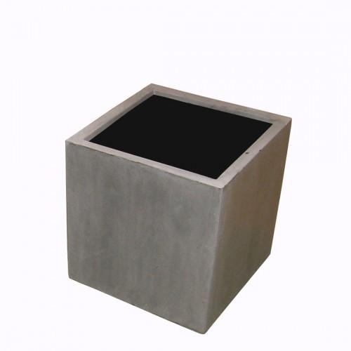 Macetero de fibra gris - BECARA