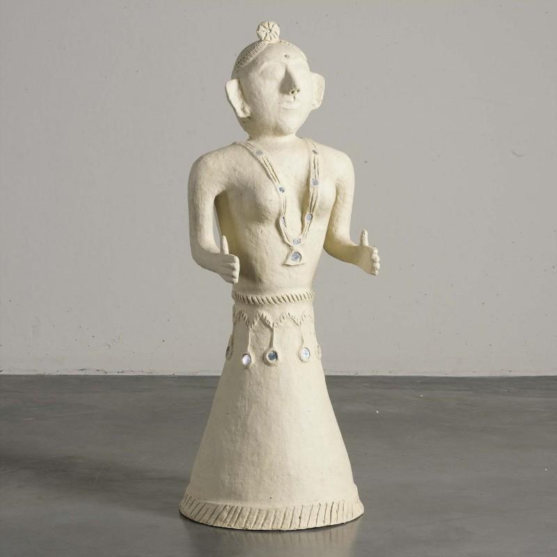 Paper mache woman figure