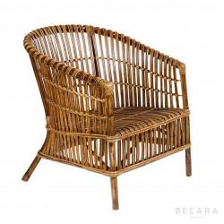 Butaca tiras de bambú