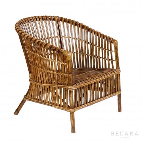 Butaca tiras de bambú - BECARA