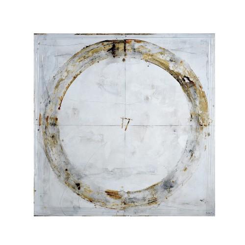 Óleo círculo blanco