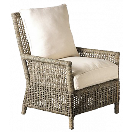 Dark ropes armchair with cushions included