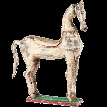 Grey wooden horse