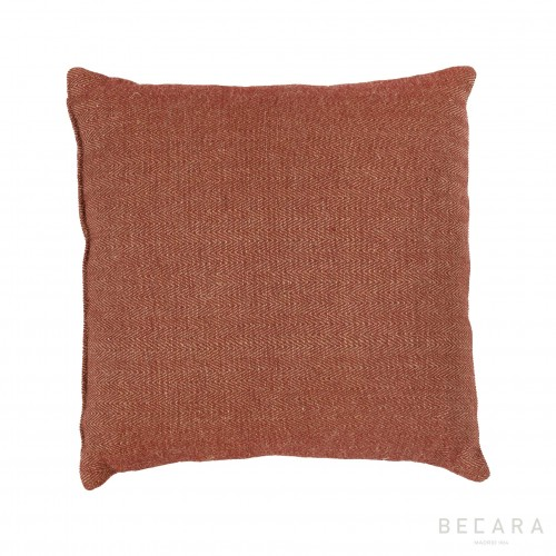 50x50cm marooned ochre zig-zag lines cushion