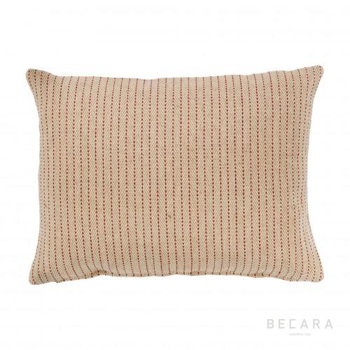 45x60cm beige zig-zag lines cushion