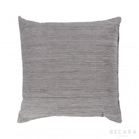 Cojín gris líneas verticales jaspeadas 50x50cm