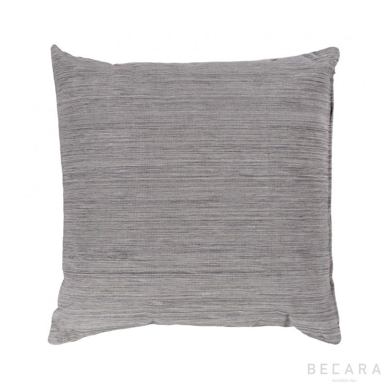Cojín gris líneas verticales jaspeadas 50x50cm - BECARA
