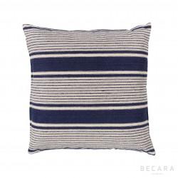 50x50cm dark blue stripes cushion