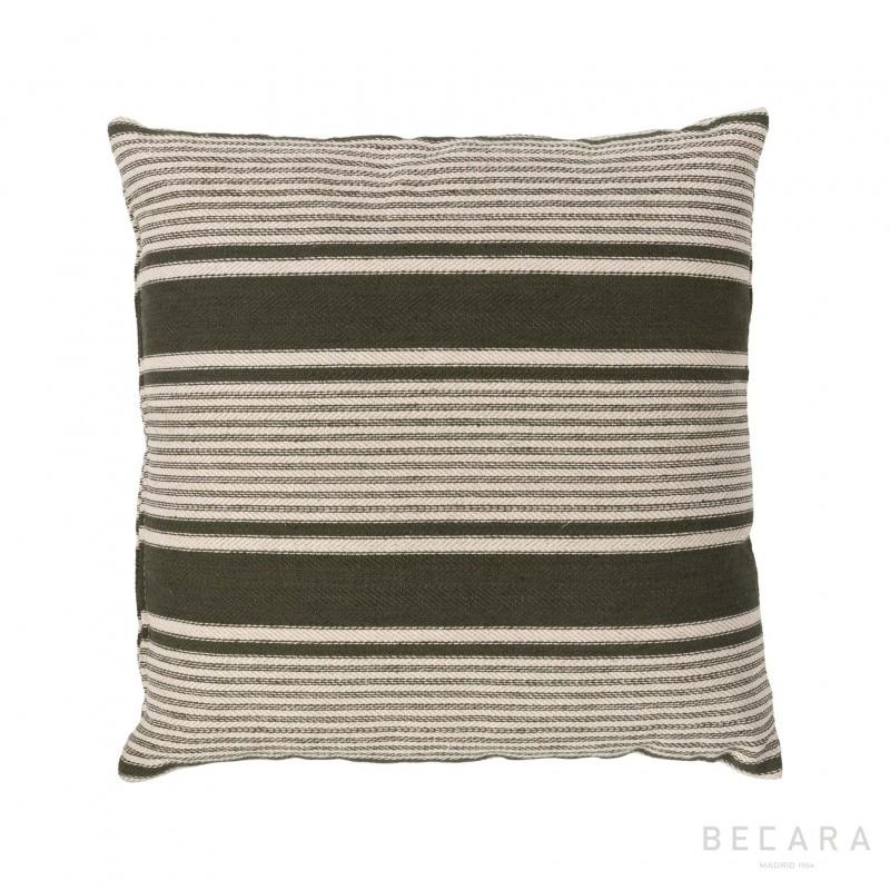 Cojín a rayas verdes 50x50cm - BECARA