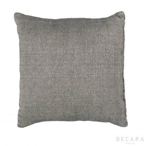 Cojín gris zig-zag 50x50cm