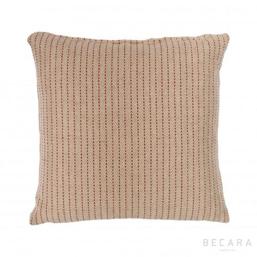 Cojín beige zig-zag 50X50cm - BECARA