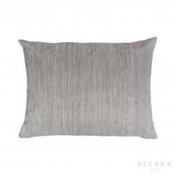 Cojín gris líneas verticales jaspeadas 45x60cm