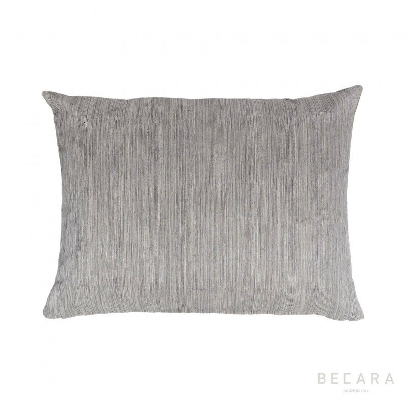 Cojín gris líneas verticales jaspeadas 45x60cm - BECARA