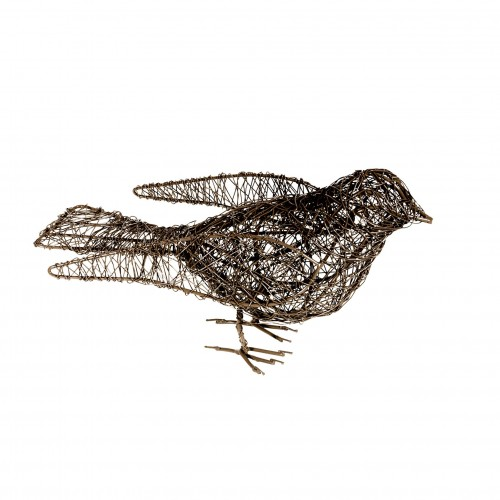 Pájaro de alambre gris