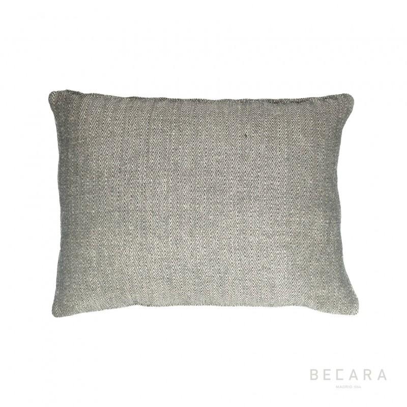 Cojín gris zig-zag 45x60cm - BECARA