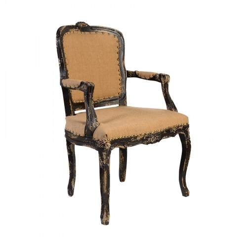 Upholstery French armchair
