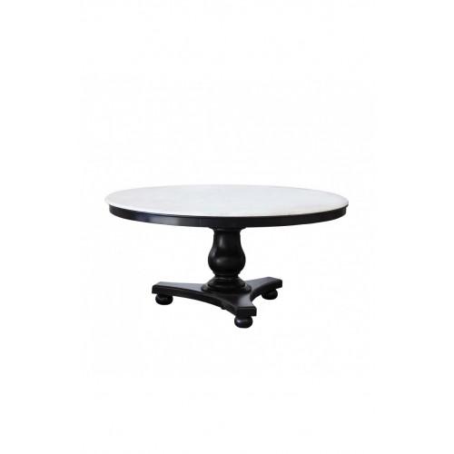 Mesa de comedor Diana de teca negra