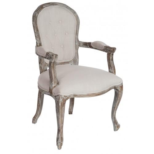 Michelle ecru armchair