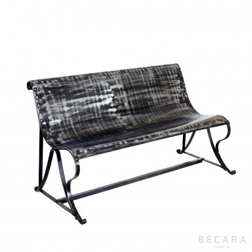 Smooth black bench