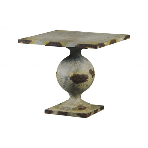 Green side table with ball leg