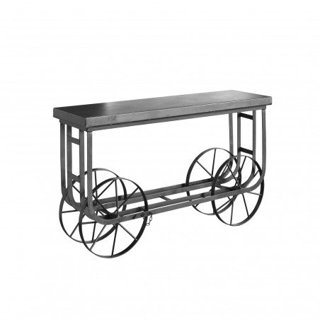 Black iron trolley