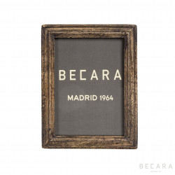 Dark distressed wooden frame