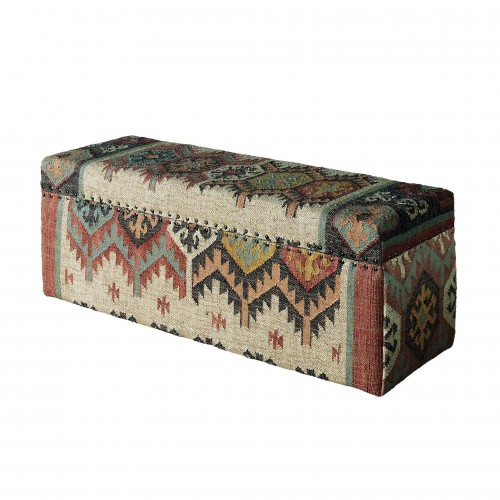 Colourful Kilim trunk
