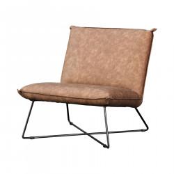 Alexandre Faux Leather Armchair