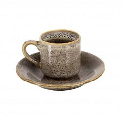 Taza de café con plato shagreen - BECARA