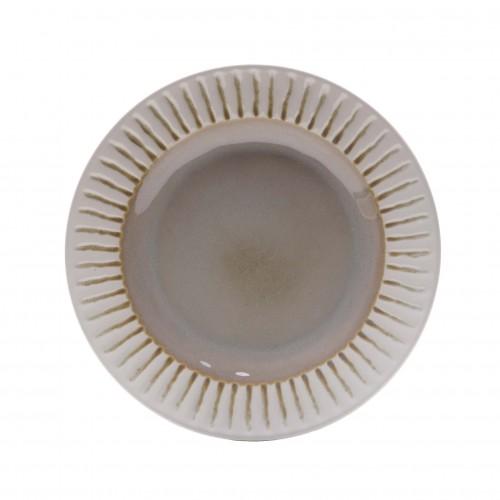Assis beige dessert plate