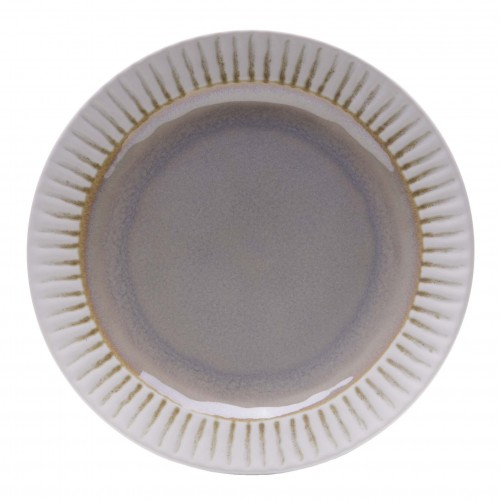 Assis beige shallow plate