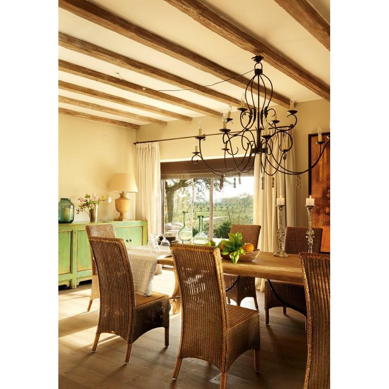Lámpara de mesa de madera natural 71,50cm - BECARA