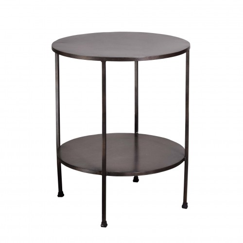 Rusted side table with 2 shelves