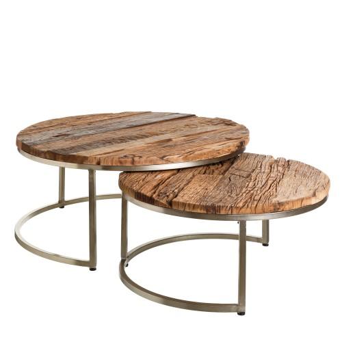 Set de 2 mesas de centro Oly
