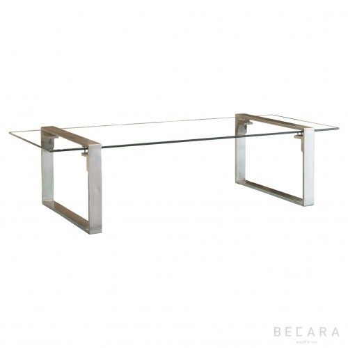 Clark nickel coffee table