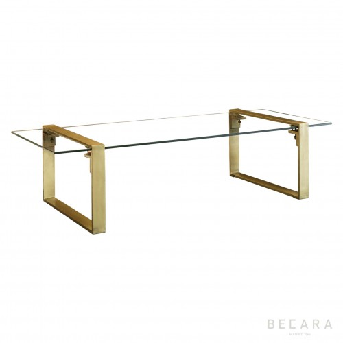 Clark brass coffee table