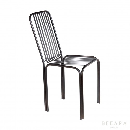 Iron strips chair