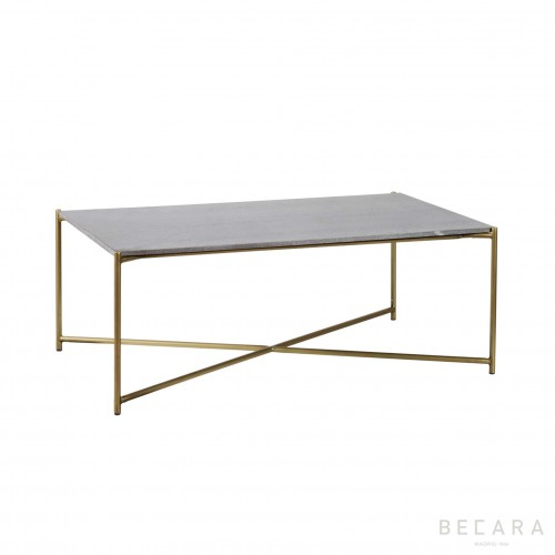 Cross rectangular coffee table