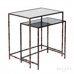 Set 2 mesas de centro Yarrow cobre